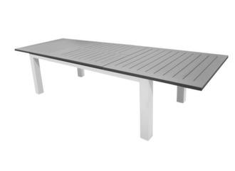 Table Aurore 214/311 cm, coloris blanc/grey