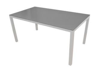 Table Création 200 x 100 cm, alu/béton, coloris blanc/gris