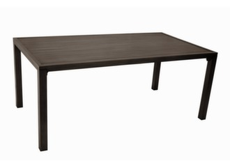 Table Milano 220 x 100 cm, finition brush