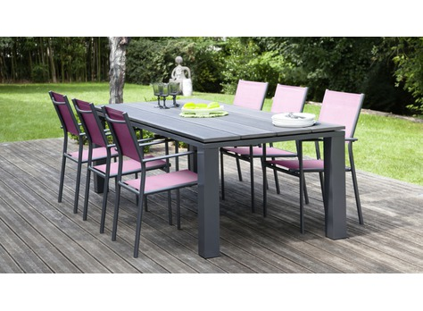 table aliz 220cm tables de jardin proloisirs sp cialiste du mobilier de jardin contemporain. Black Bedroom Furniture Sets. Home Design Ideas