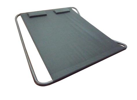 bain de soleil 2 places en acier et toile proloisirs. Black Bedroom Furniture Sets. Home Design Ideas