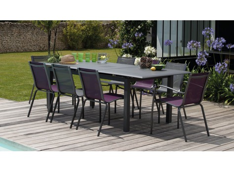 table louisiane tables de jardin proloisirs sp cialiste du mobilier de jardin contemporain. Black Bedroom Furniture Sets. Home Design Ideas