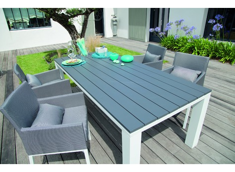 table elena 220 grey sand tables de jardin proloisirs sp cialiste du mobilier de jardin. Black Bedroom Furniture Sets. Home Design Ideas