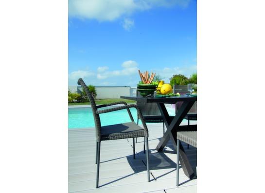 Salon jardin table crossway 6 chaises 2 fauteuils oc o - Ambiance tables et chaises reims ...