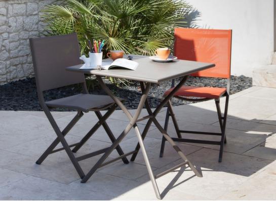 gu ridon de jardin pliant globe 70x70cm proloisirs. Black Bedroom Furniture Sets. Home Design Ideas