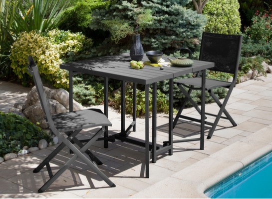 gu ridon de jardin carr 90cm pliant caly proloisirs. Black Bedroom Furniture Sets. Home Design Ideas
