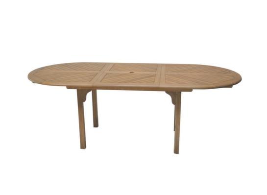table de jardin en bois 6 8 personnes durban proloisirs. Black Bedroom Furniture Sets. Home Design Ideas