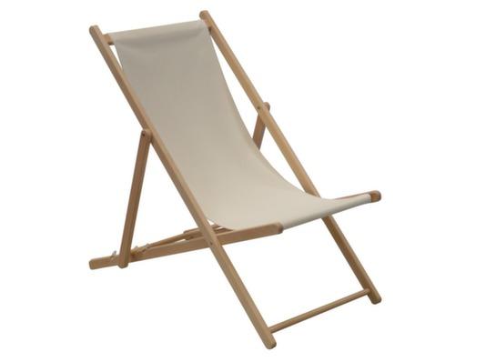 chilienne pliante bois toile coton cancale proloisirs. Black Bedroom Furniture Sets. Home Design Ideas