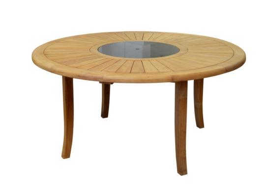 Table De Jardin Ronde En Bois Brehat 180cm Proloisirs