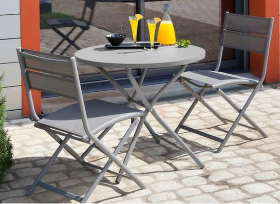 gu ridon rond de jardin pliant win 80cm oc o. Black Bedroom Furniture Sets. Home Design Ideas