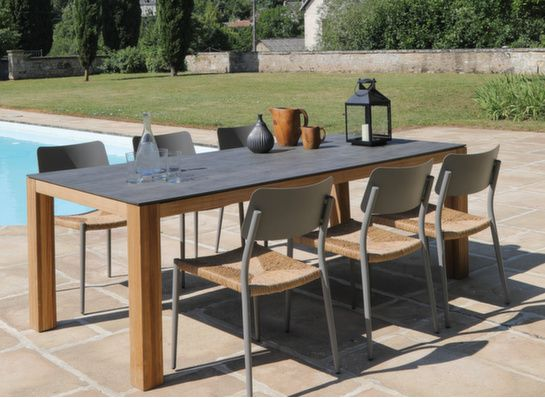 Tables de jardin, table de jardin extensible en aluminium ...