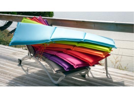 Coussin pour bains de soleil garden proloisirs - Housse pour coussin bain de soleil ...