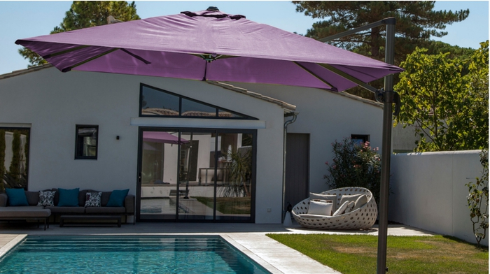 proloisirs parasol d port en aluminium 3x3m parasols. Black Bedroom Furniture Sets. Home Design Ideas