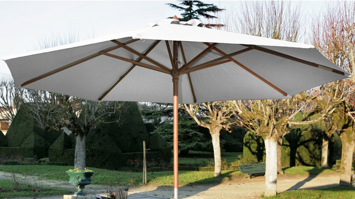 proloisirs parasol en bois 3m manivelle parasols. Black Bedroom Furniture Sets. Home Design Ideas