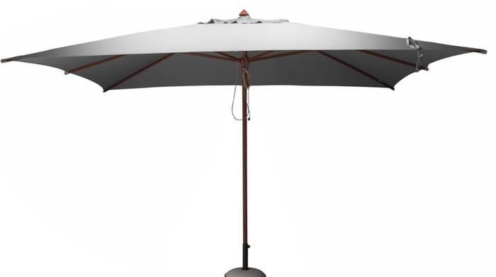 parasol bois 3x4 m gris parasols classiques et d port s. Black Bedroom Furniture Sets. Home Design Ideas