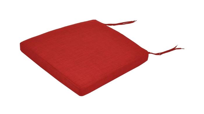 Coussin chaise et fauteuil latino rouge - Coussin de chaise de jardin 45x45 ...