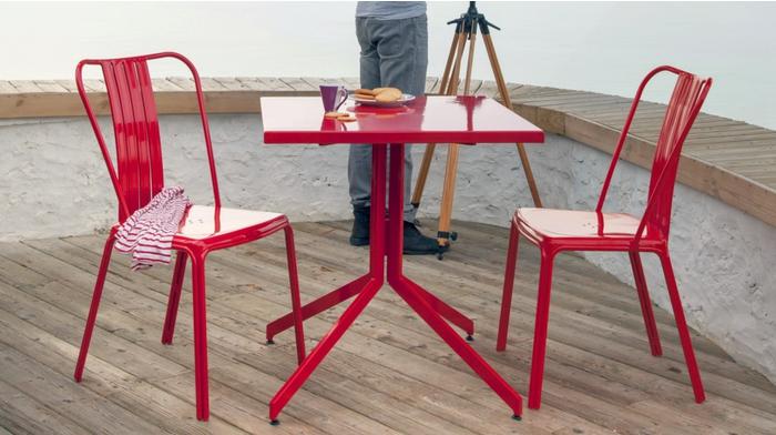 Chaise azuro rouge chaises de salon de jardin proloisirs sp cialiste du mobilier de jardin - Mobilier jardin rouge besancon ...