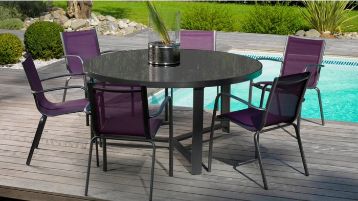 proloisirs table d 39 ext rieur brecia ronde 150 tables de jardin. Black Bedroom Furniture Sets. Home Design Ideas
