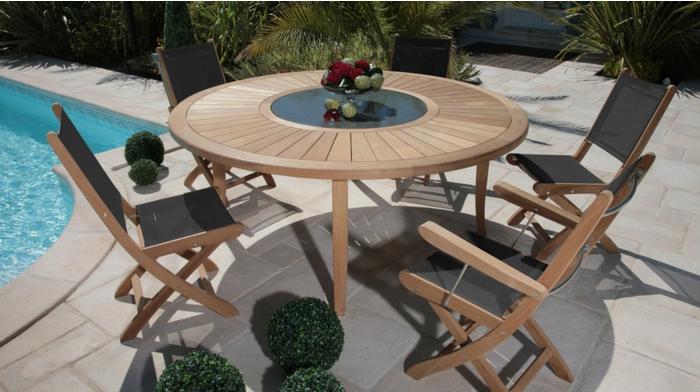 proloisirs table de jardin brehat 155 tables de jardin. Black Bedroom Furniture Sets. Home Design Ideas