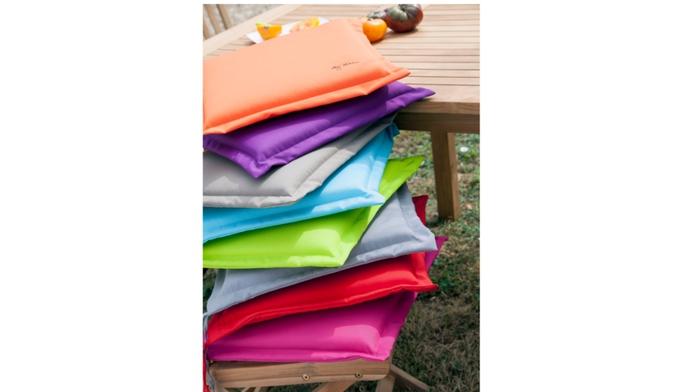 Coussin garden galette framboise coussins pour chaises - Coussins de fauteuil de jardin ...
