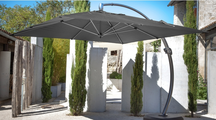 parasol d port arc 3x4m parasols droits et d port s. Black Bedroom Furniture Sets. Home Design Ideas