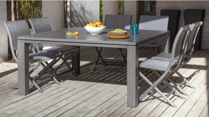 Table latino 155 ice for Table carree exterieur
