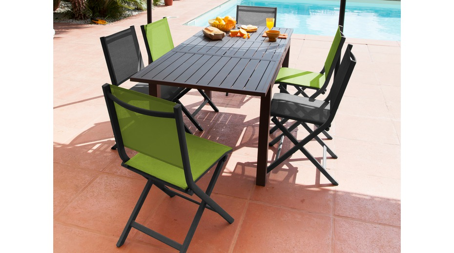 Table Trieste 130 180 Grey Tables De Jardin Proloisirs