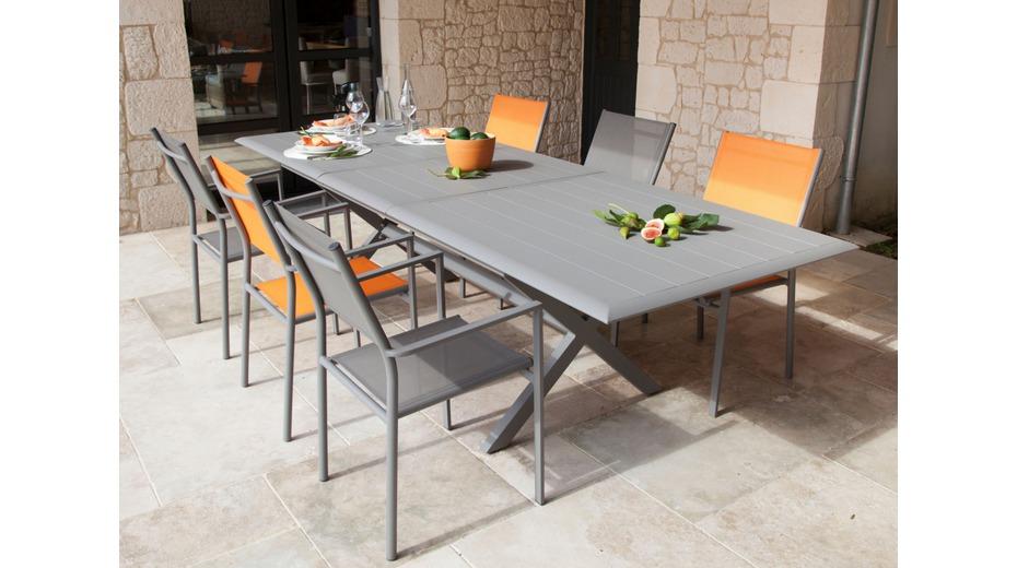 table bridge extension tables de jardin proloisirs. Black Bedroom Furniture Sets. Home Design Ideas